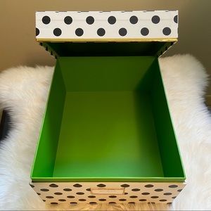 Kate Spade Large Polka Dot Lime Green Storage Box